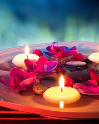 Petals, candles and Spa - Obrázkek zdarma pro 352x416