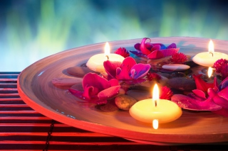 Petals, candles and Spa Background for Android, iPhone and iPad
