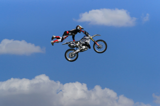 Motorcycle Jump Picture for Android, iPhone and iPad