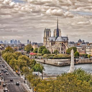 Notre dame de Paris - Obrázkek zdarma pro 320x320