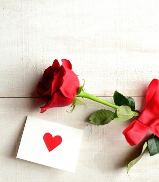 Rose With Letter - Obrázkek zdarma pro iPhone 4S