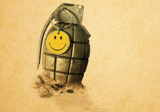 Yellow Smile Wallpaper for Android, iPhone and iPad