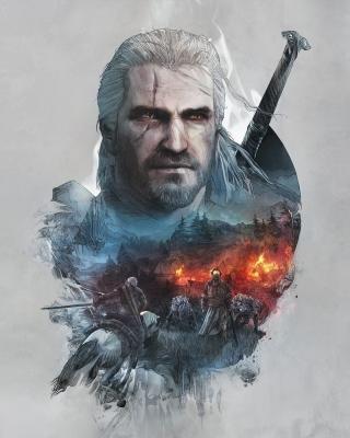 Geralt of Rivia Witcher 3 - Obrázkek zdarma pro 352x416