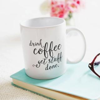 Drink Coffee Quote - Obrázkek zdarma pro 2048x2048