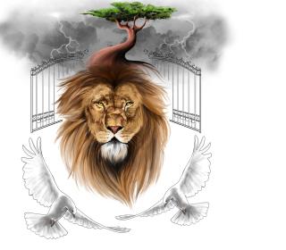 Lion Painting - Obrázkek zdarma pro iPad Air