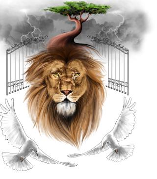 Lion Painting - Obrázkek zdarma pro iPhone 5C
