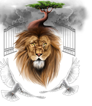 Lion Painting - Obrázkek zdarma pro Nokia Lumia 610
