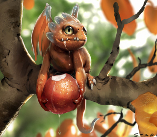 Baby Dragon - Obrázkek zdarma pro 1024x1024