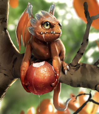 Baby Dragon - Obrázkek zdarma pro Nokia Asha 306