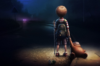Lonely Child Background for Android, iPhone and iPad