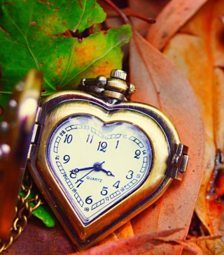 Vintage Heart-Shaped Watch - Obrázkek zdarma pro iPhone 6 Plus