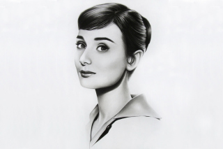 Audrey Hepburn Portrait Picture for Android, iPhone and iPad