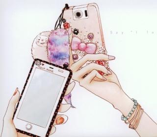 Hand Drawn iPhone - Obrázkek zdarma pro 2048x2048