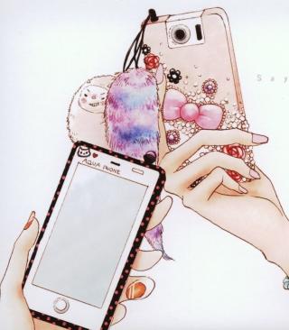 Hand Drawn iPhone - Obrázkek zdarma pro Nokia Asha 306