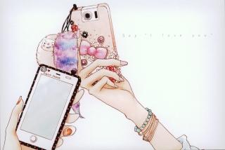 Hand Drawn iPhone - Obrázkek zdarma pro 1280x800