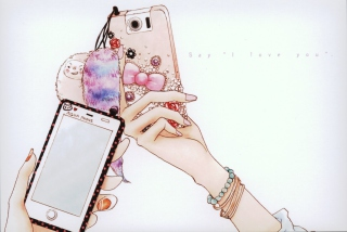 Hand Drawn iPhone - Obrázkek zdarma pro HTC Desire