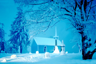 Winter Church and Chapel Background for Android, iPhone and iPad