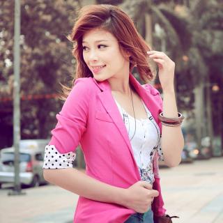 Asian Redhead Girl - Obrázkek zdarma pro iPad mini 2