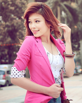 Asian Redhead Girl - Obrázkek zdarma pro Nokia X2-02