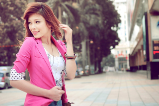 Asian Redhead Girl Picture for Android, iPhone and iPad