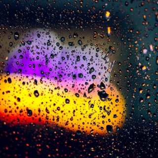 Blurred Drops on Glass - Obrázkek zdarma pro iPad 3