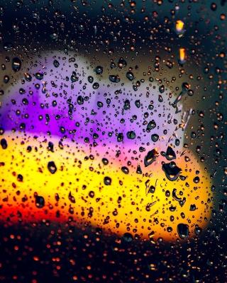 Blurred Drops on Glass - Obrázkek zdarma pro Nokia C5-05