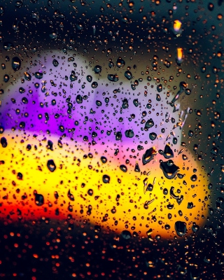 Blurred Drops on Glass - Obrázkek zdarma pro 132x176
