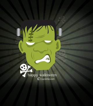 Green Frankenstein - Obrázkek zdarma pro Nokia Asha 202
