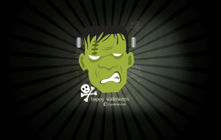Green Frankenstein Wallpaper for Android, iPhone and iPad