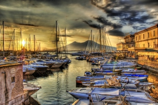 Sunrise In Naples Background for Android, iPhone and iPad