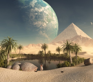 Paradise Oasis - Obrázkek zdarma pro iPad
