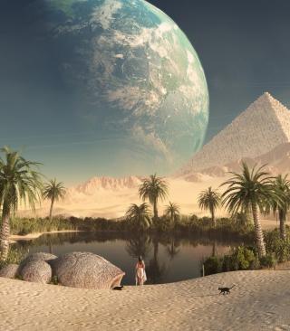 Paradise Oasis - Obrázkek zdarma pro iPhone 4S