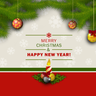 Merry Christmas and Happy New Year - Obrázkek zdarma pro iPad 3