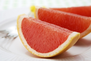 Grapefruit Slices Background for Android, iPhone and iPad