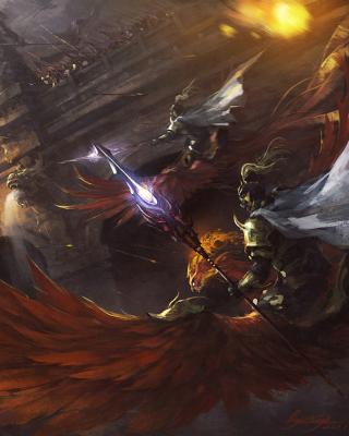 Battle with horseman - Obrázkek zdarma pro 480x800