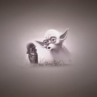 Darth Vader In The Fog - Obrázkek zdarma pro iPad