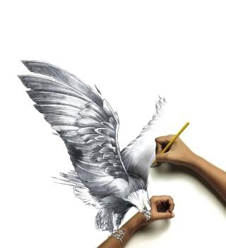 Drawing An Eagle - Obrázkek zdarma pro 2048x2048