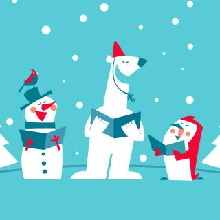 Christmas Cartoon - Obrázkek zdarma pro 208x208