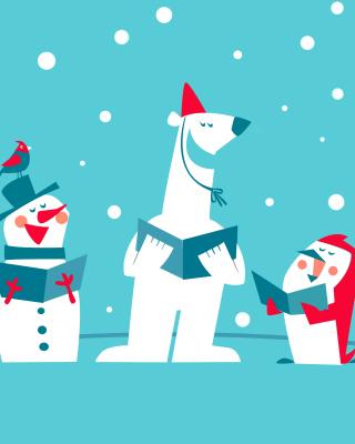 Christmas Cartoon - Obrázkek zdarma pro 480x800