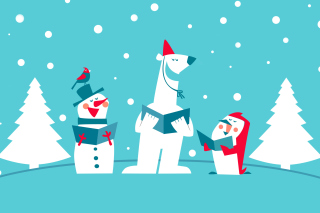 Christmas Cartoon - Obrázkek zdarma pro 1280x1024