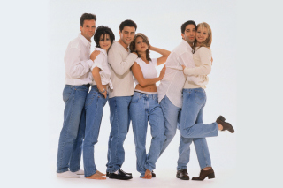 Comedy sitcom Friends with Matthew Perry, Jennifer Aniston and David Schwimmer - Obrázkek zdarma pro 1152x864