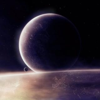 Moon in space - Obrázkek zdarma pro iPad 2