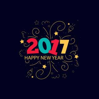 New Year 2017 - Obrázkek zdarma pro iPad Air