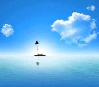 Lonely Palm Tree Island - Obrázkek zdarma pro iPad 2