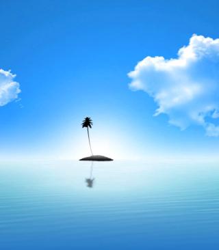 Lonely Palm Tree Island - Obrázkek zdarma pro 352x416