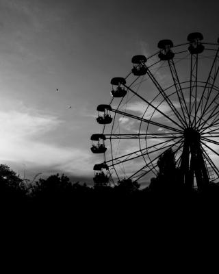 Ferris Wheel In Black And White - Fondos de pantalla gratis para Huawei G7300