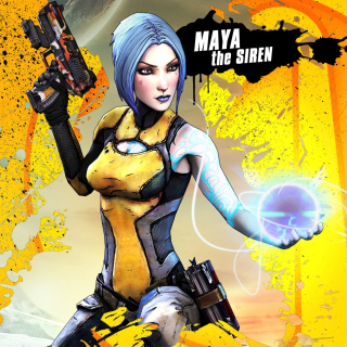 Maya the Siren, Borderlands 2 - Obrázkek zdarma pro iPad Air