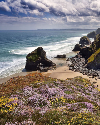 Beach in Cornwall, United Kingdom - Obrázkek zdarma pro Nokia Asha 202