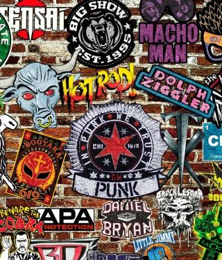 WWE Logos: Hot Rod, Punk - Obrázkek zdarma pro 320x480