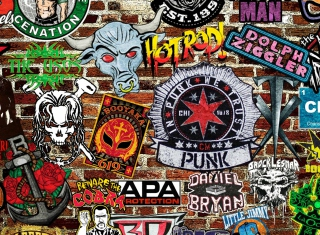 WWE Logos: Hot Rod, Punk - Obrázkek zdarma pro Android 1920x1408